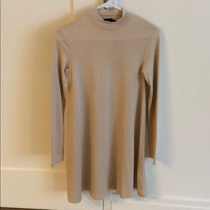 Long sleeve nude dress perfect for fall